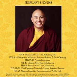 Kalou Rinpoche Vancouver Programs