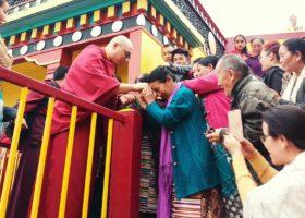 Kalu Rinpoche in Sonada, India